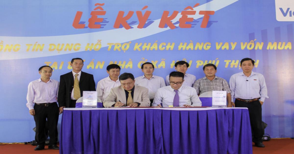 Lễ ký kết hỗ trợ tài chính Dự án nhà ở xã hội Phú Thịnh Plaza