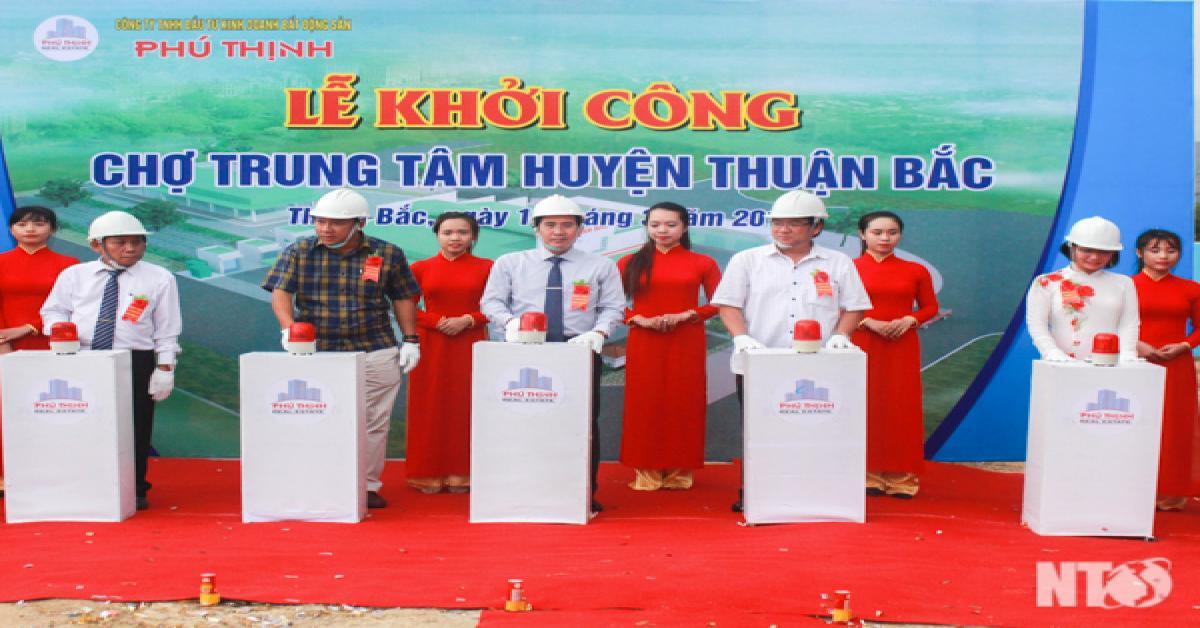 Khởi công chợ trung tâm huyện Thuận Bắc